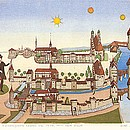 """""""Hirschengraben Luzern um 1597 nach Martini, um 1800 nach Schumacher und heute"""""""