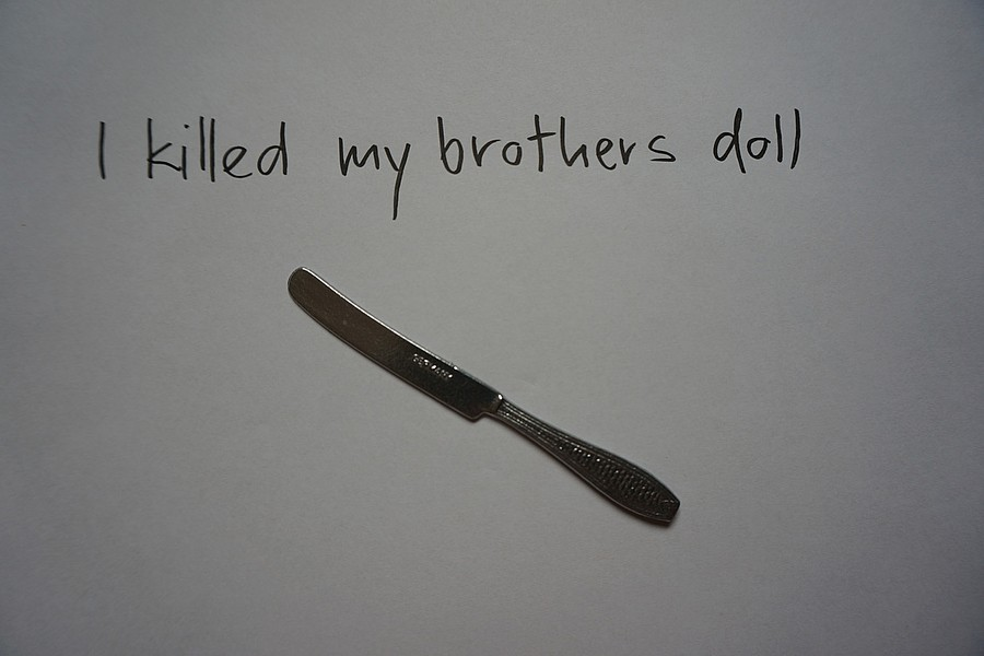 I killed my brother's doll